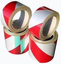 Reflexní páska DURAFLEX šrafovaná červenobílá