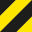 50 mm x 33 m - žlutočerná - levá